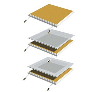 RADIANT SYSTEM-SAMYANG- HÀN QUỐC, MODEL : Metal square panel